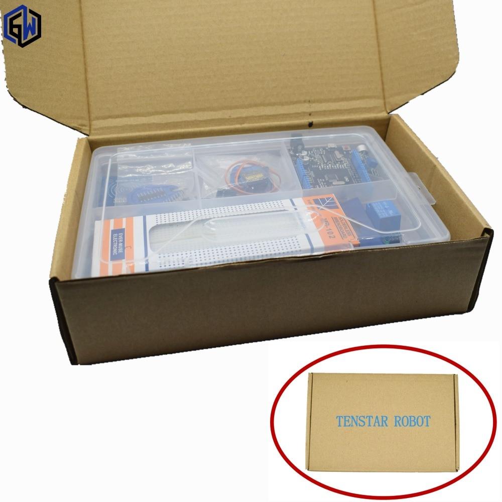 UNO R3 KIT Verbesserte version des Starter Kit die RFID lernen Suite LCD 1602/RC522/sg90 servo mit Einzelhandel Box arduino kit