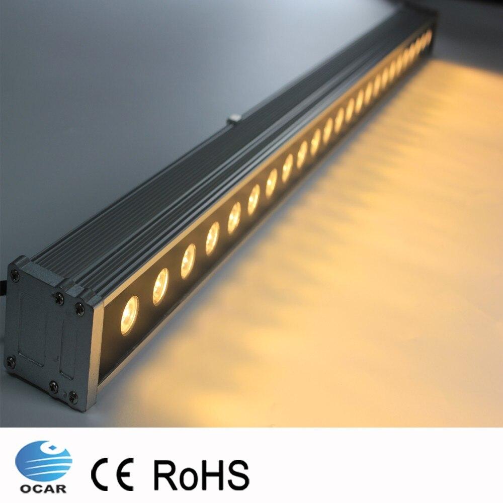 1M 72W LED Wall Washer Landscape light AC 24V AC 85V 265V outdoor lights wall linear lamp floodlight 100cm wallwasher