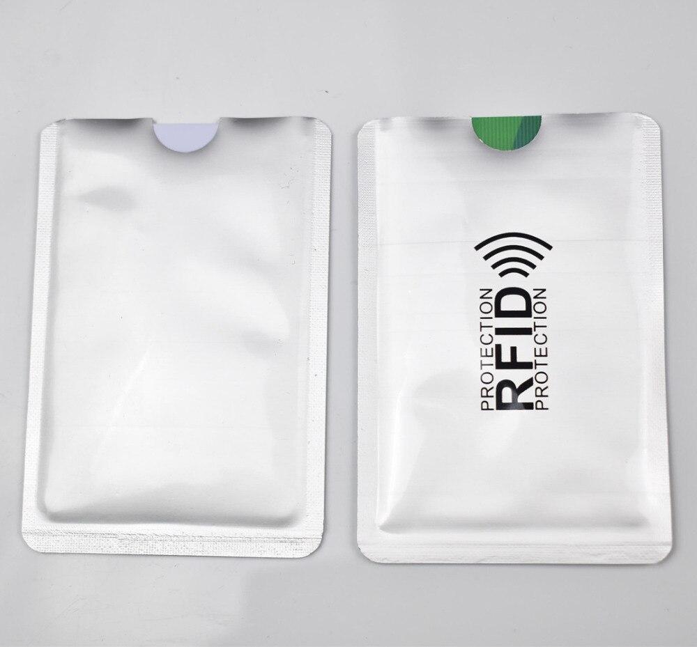 10pcs/lot Anti Rfid Blocking Reader Lock Bank Card Holder ID Bank Card Case Rfid Protection Metal Credit Card Holder Aluminium