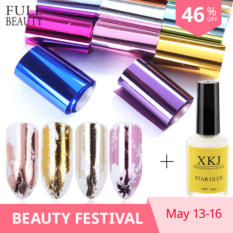 1 Set Holographic Foils & 16ML Adhesive Glue Galaxy Star Foil Stickers Transfer Glue Decal Tool for Decoration Nails Tips CH10121 Set Holographic Foils & 16ML Adhesive Glue Galaxy Star Foil Stickers Transfer Glue Decal Tool for Decoration Nails Tips CH1012
