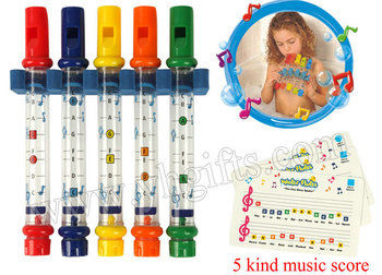 5PCS/1CARD/LOT.Water whistle Bath toys,Toy Musical Instrument,Sounding toys,Birthday gift,New baby toy,19cm,5 color,Freeshipping image