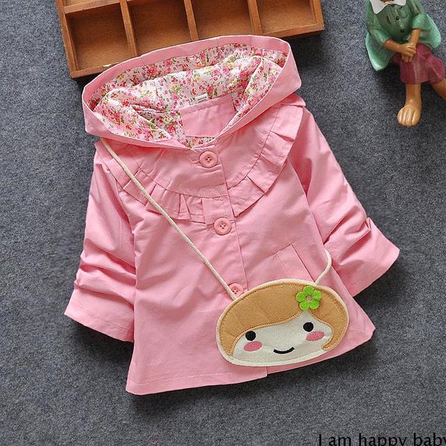 2016 primavera roupas de criança 0 - 1 - 2 - 3 4 criança criança do sexo feminino primavera outerwear bebê e outono trincheira topo