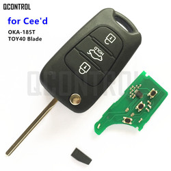 QCONTROL Car Remote Key OKA-185T CE0682 for KIA CEED Pro Ceed Cee'd SW TOY40 Key Blade