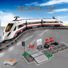 659pcs City RC Train High speed Passenger Train
