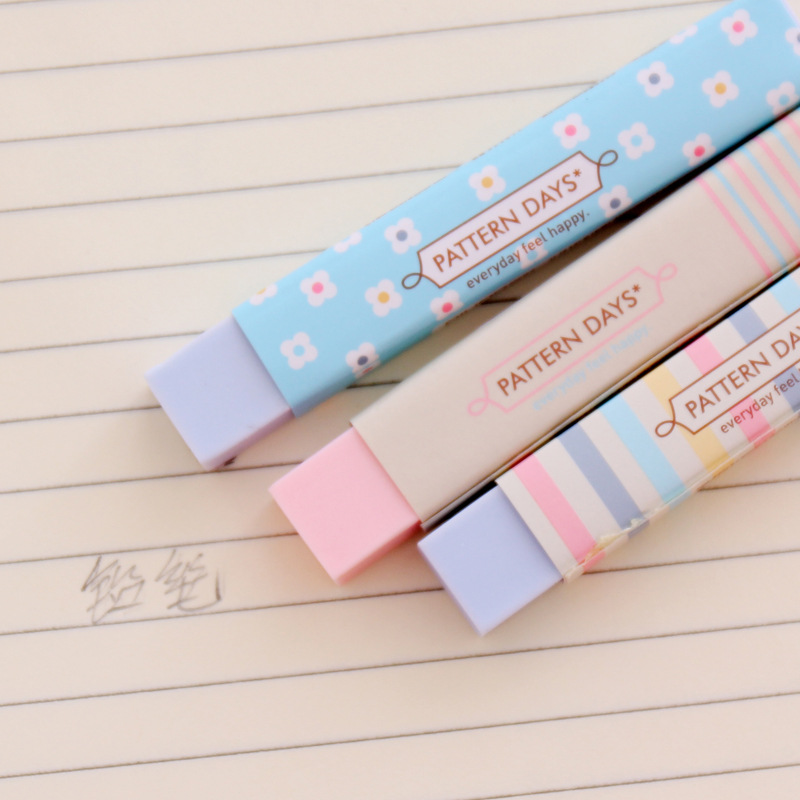 1 Pcs New Rainbow Color Simple Long Strip Pencil Erasers For Office Student School Kids Prize Writing Drawing Student Gift