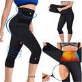 Compressão pressurizada cintura correndo collants feminino esportes capris yoga calças workout cintura 3/4 leggings de fitness sweatpants