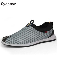 Cyabmoz Brand High Quality Summer Breathable Mesh Shoes Mens Casual Shoes Hot Sale Trainers Comfortable Walking Driving Shoes