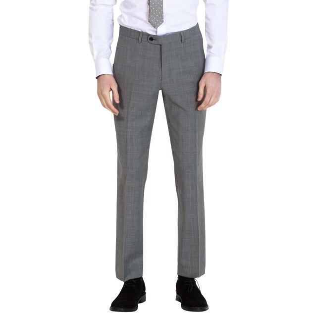Для мужчин толстые формальный костюм брюки Офис брюки серый Для мужчин брюки с высоким качеством Товары для свадьбы или индивидуальный заказ мужские брюки