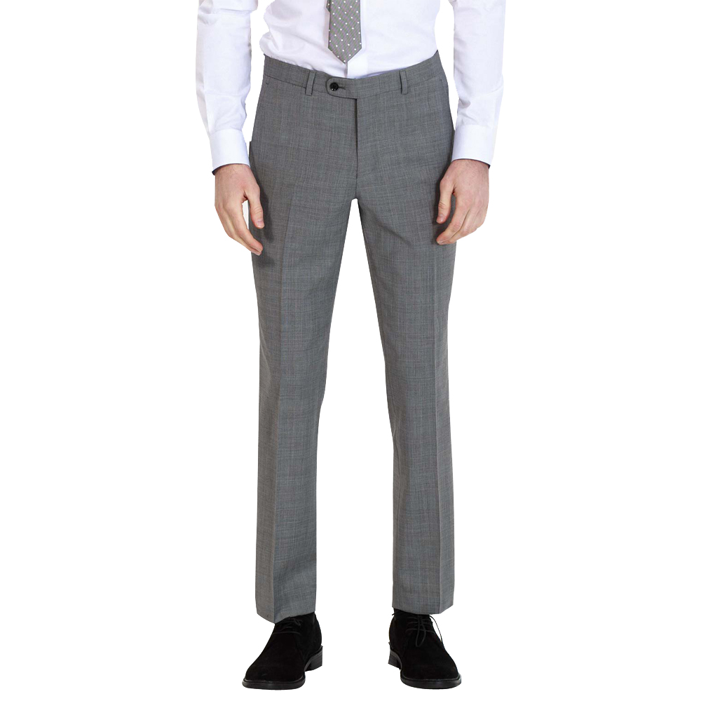 Men's Thick Formal Suit Pants Office Trousers Gray Men Pants With High-Quality Goods For Wedding Or Custom Made Male Pants