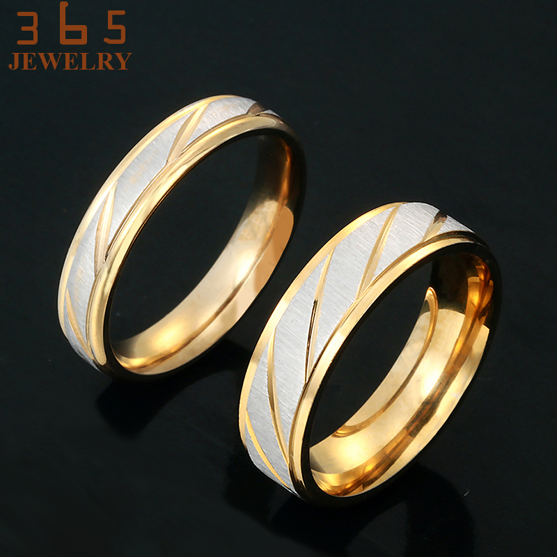 Luxury Jewelry Gold Friendship Korean Stainless Steel Love Rings - Fashion Jewelry - Photo 3