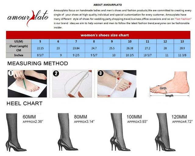 Amourplato Women's 65mm Pointed Toe Ankle Wrap d'Orsay Pumps Sexy Mid Kitten Heel Cut Out Bukcle Closure Plus Size Dress Shoes