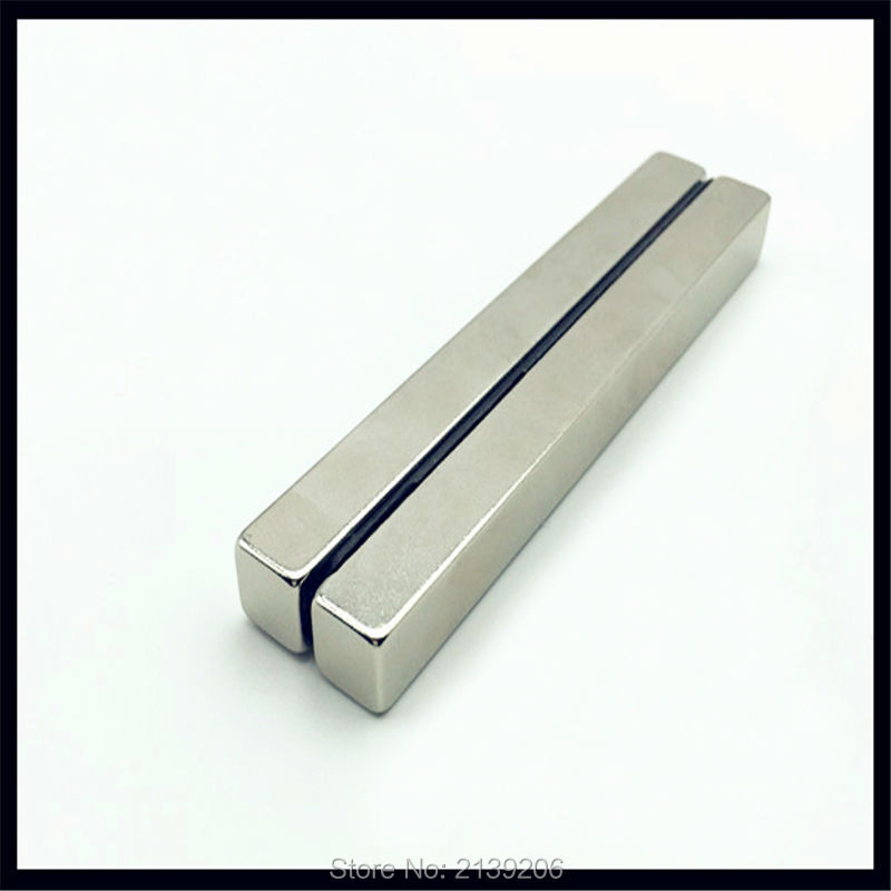 4 pcs big block 100mm * 10mm * 10mm força de tracção 16.5 KG forte de neodímio ndfeb permanente ímãs