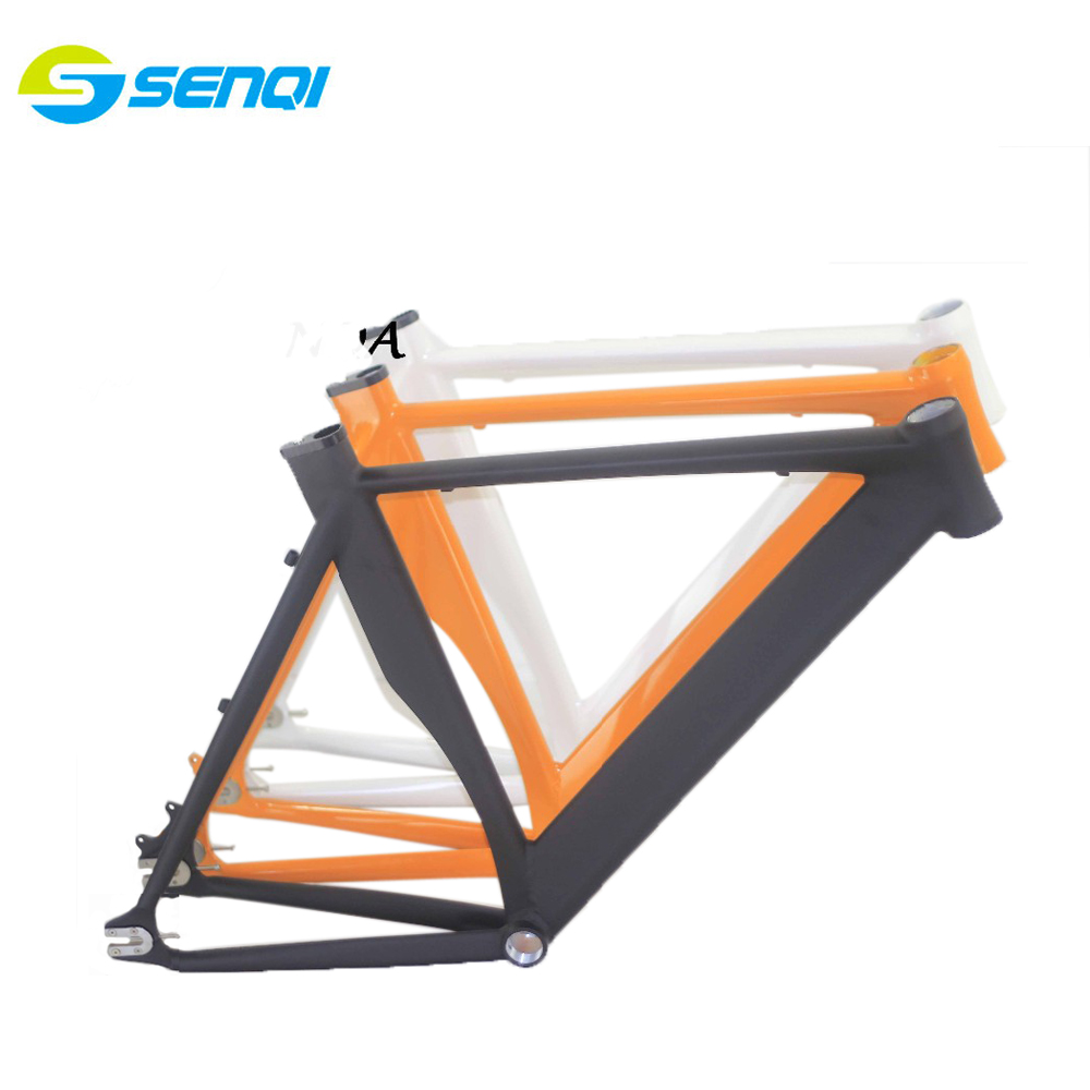 цена на 2015 Top Quality 54CM Smooth Welding Track Bike Fixed Gear Disc-Brake Bicycle Frame free shipping