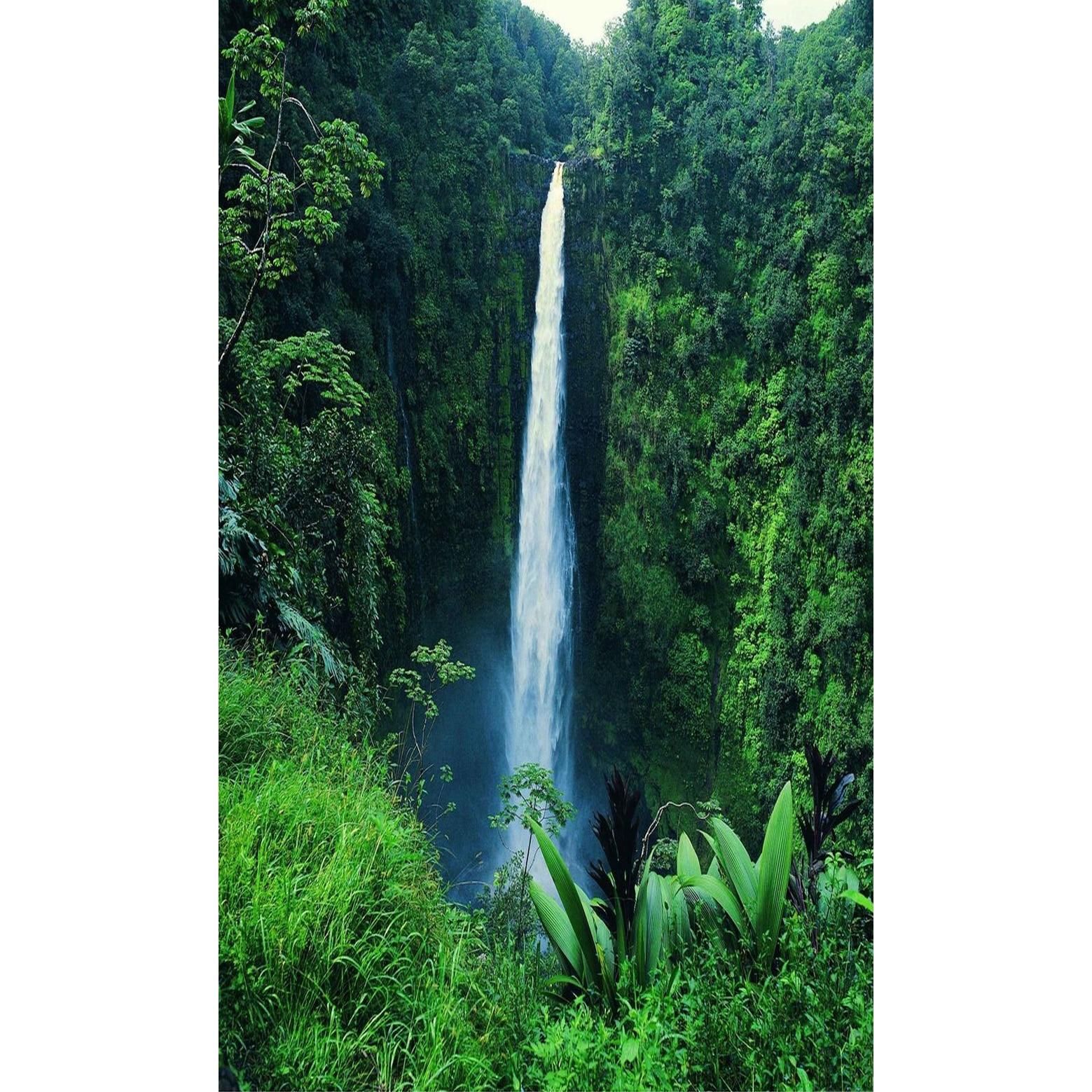 popular waterfall decor buy cheap waterfall decor lots aliexpress com buy 4 panel waterfall and green lake