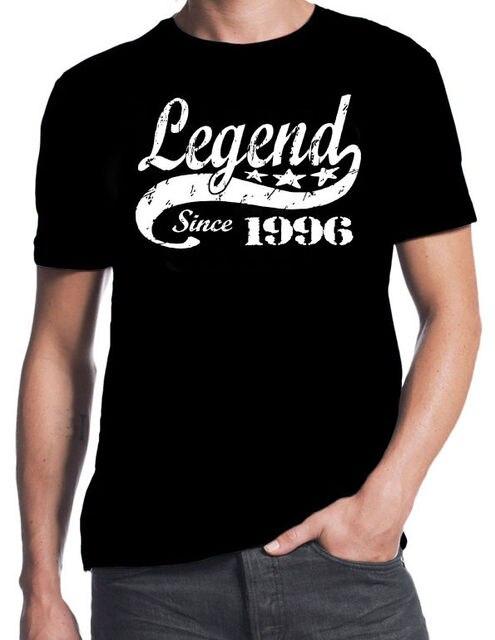 21e Verjaardag Legend Sinds 1996 21 Jaar Idee Zoon Present Zwarte T
