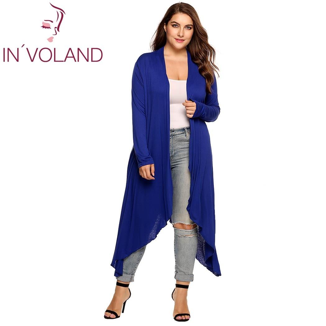 IN'VOLAND Կանացի Cardigan Jacket Plus Չափի - Կանացի հագուստ - Լուսանկար 2