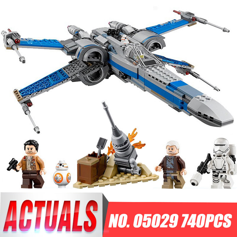 In-Stock 740PCS NEW 05029 05004 Rebel X-wing fighter KIDS TOY LEPIN Building blocks assembled Compatible 75149 75102 new in stock kt224510