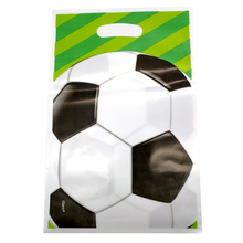 Boys Favors Decorations Party Soccer Theme Happy Birthday Plastic Gifts Bags Baby Shower Football Theme Loot Bags 10PCS/PACK