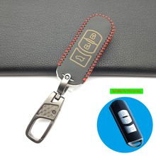 High Quality Soft Leather Car Key Cover Case For Mazda 2 3 5 6 8 Atenza CX5 CX-7 CX-9 MX-5 RX Smart 3 Buttons Key Case Shell