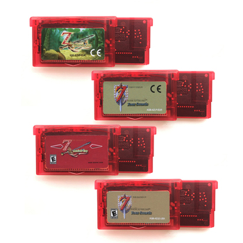 Zeldd Series The Minish Cap Link Past Four Swords Transport Red Shell for 32 Bit Video Game Cartridge Console Card Handheld