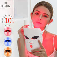 K-SKIN KD036 Beauty Photon LED Facial Mask Therapy Skin Rejuvenation Korean Skin Care Anti Acne Wrinkle Removal Massage 3 Colors