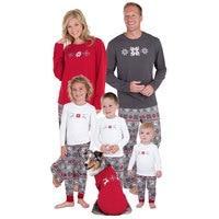 Family Christmas Pajamas 2017 Christmas Snowflake Print Family Matching Outfits Fashion Patchwork Long Sleeve Family Look