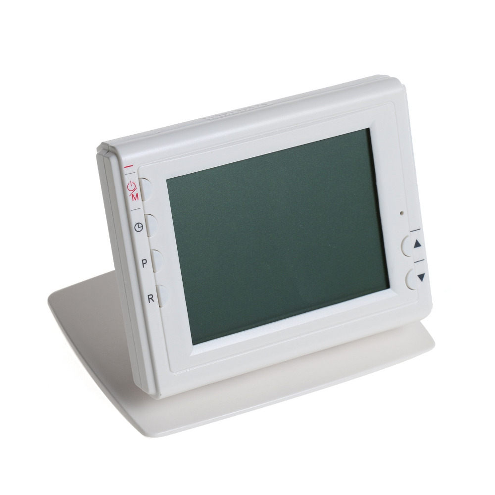אלחוטית Thermoregulator ירוק תצוגת מסך LCD לתכנות עבור גז או נפט חימום תרמוסטט עם בקר מקלט