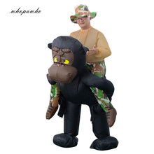 INFLATABLE RIDING GORILLA COSTUME Animal Themed Gorilla Cosplay Halloween Kostymer för Kvinna Man