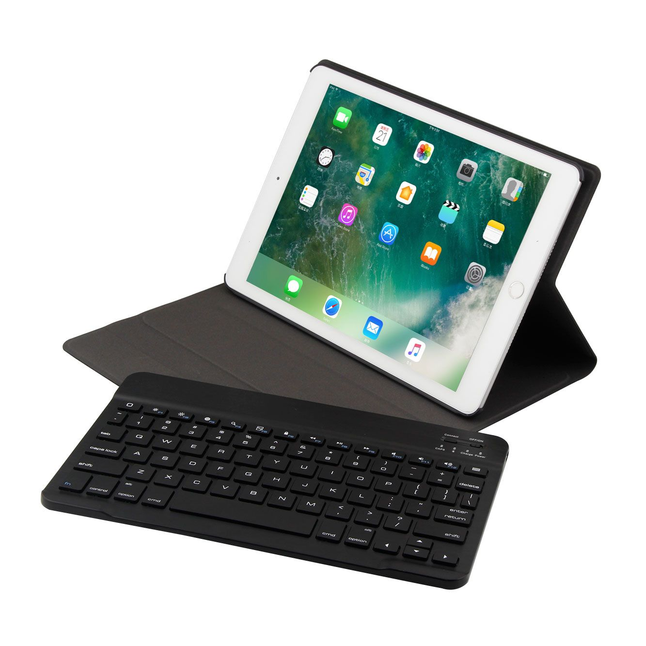 Image 5 - For New Ipad 9.7 2017 A1822 A1823 Wireless Bluetooth Keyboard Ultra Thin PU Leather + ABS Keyboard Removable For Ipad air 1/2-in Keyboards from Computer & Office