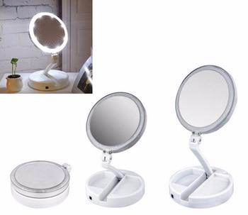 14d1d19d7 Nuevo LED portátil espejo de maquillaje iluminado vanidad compacto hacer bolsillo  espejos vanidad cosméticos espejo de