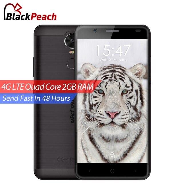 Ulefone Тигр 4 Г Мобильный Телефон 5.5 дюймов HD 1280x720 MTK6737 Quad ядро Android 6.0 2 ГБ RAM 16 ГБ ROM 8MP CAM Отпечатков Пальцев Смартфон