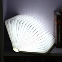 Book Light Lamp Folding LED Nightlight Creative LED Best Home Novelty Decorative USB Rechargeable Lamps White