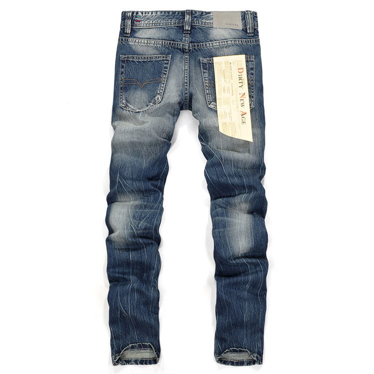 2017 Selling Brand Mens Jeans Straight Ripped Jeans For Men Zipper Fly Denim Jeans Men Fashion Designer Pants Blue Jeans Homme famous brand mens jeans straight ripped biker jeans for men zipper denim overalls men fashion designer pants blue jeans homme