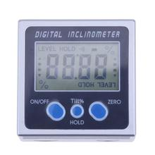 4 x 90 Electron Goniometers Electronic Protractor Digital Inclinometer Level Box Magnetic Level Measuring Tool Angle