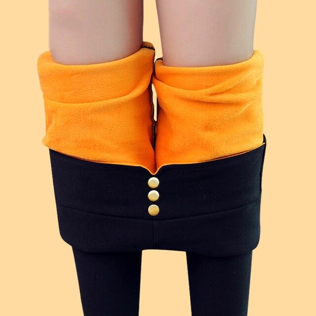 bbde6b3bf07 THENANBURONE Plus Size High Elastic Waist Winter Plus Velvet Thicken  Women s Leggings Warm Pants Cashmere Thick Trousers Female
