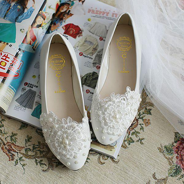 ФОТО Fashion 2017 women flats wedding shoe white color custom handmade different heel for every samle style brides party shoe XNA 048