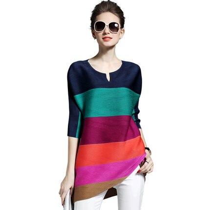 4f8c371cac39 New Women Mini dress Striped Loose Fold Into Color Dresses Orange Purple  Green Blue 982