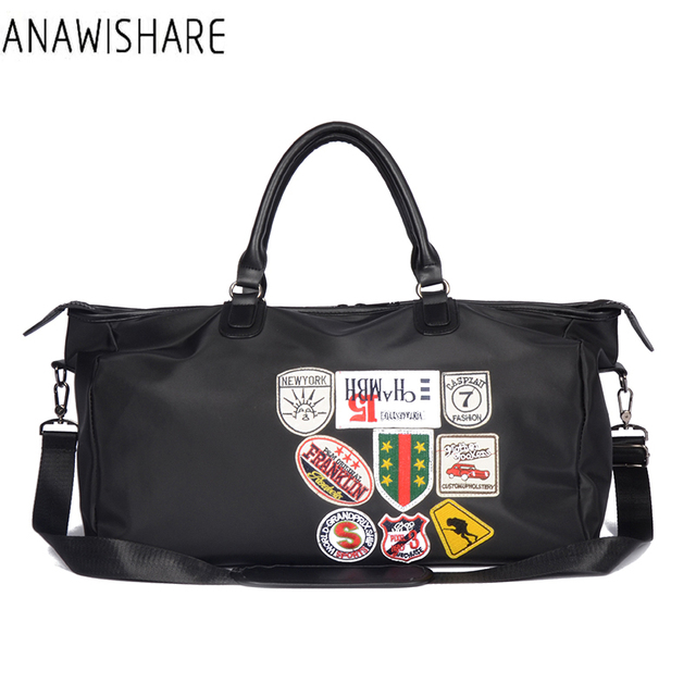 ANAWISHARE Women Travel Bags Men Luggage Travel Duffle Bags Nylon Waterproof Daily Travel Handbag Shoulder Bag Bolso Deporte