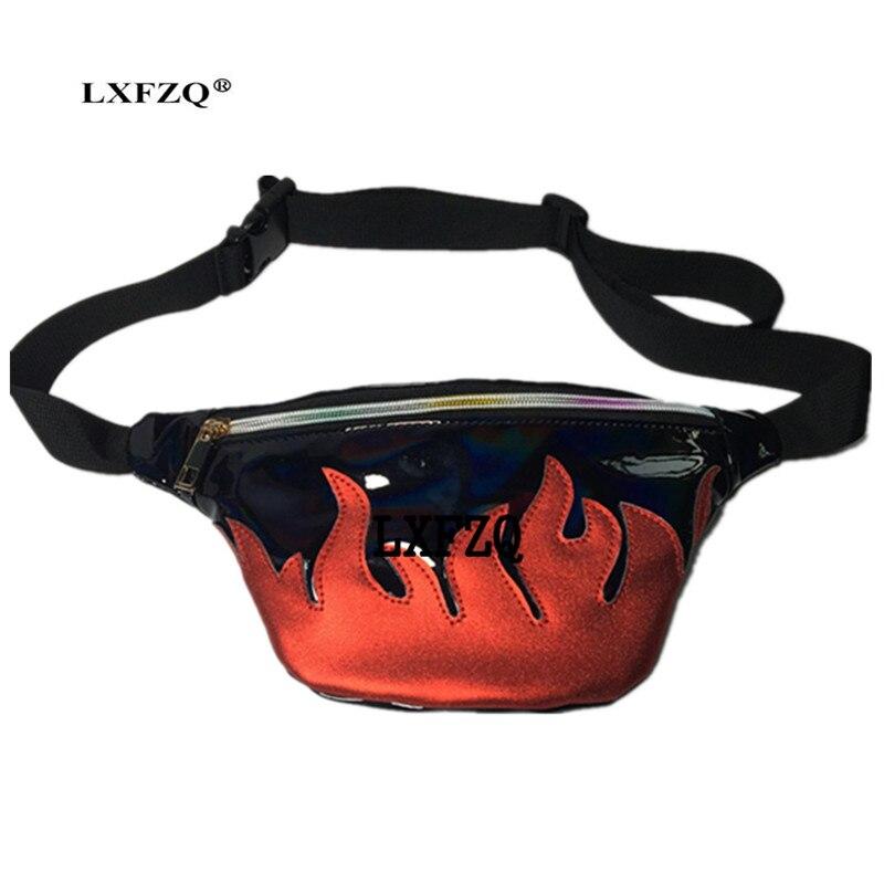NEW waist pack brand waist bag Matte material fanny pack Laser purse translucent reflective chest waist bag bag belt fanny pack