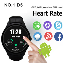 NO. 1 D5 Smart Uhr IPS Dual-Core Sync Bluetooth Wifi GPS schrittzähler Heart Monitor 512 MB RAM 4 GB Smartwatch Für Android iOS uhr