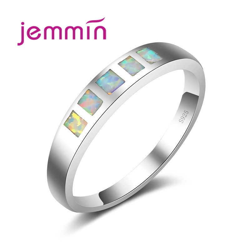 Jemmin Fashion Jewelry Round Tension Setting Rings For Women White Opal 925 Sterling Silver Rings Women & Men Lovers GiftJemmin Fashion Jewelry Round Tension Setting Rings For Women White Opal 925 Sterling Silver Rings Women & Men Lovers Gift
