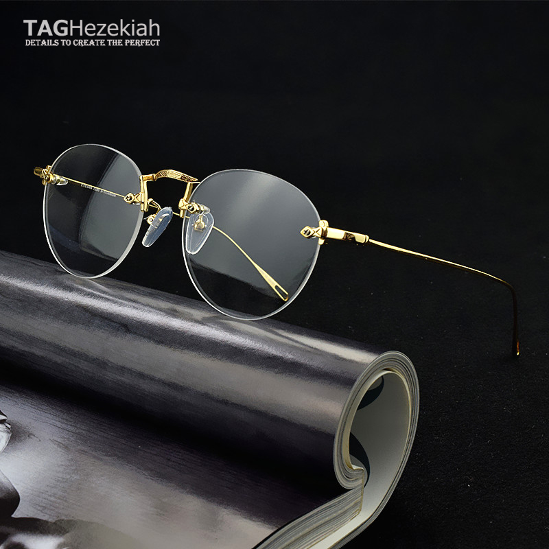 Frameless glasses frame titanium Ultralight women frame degree eyeglasses transparent computer glasses spectacle frames for men