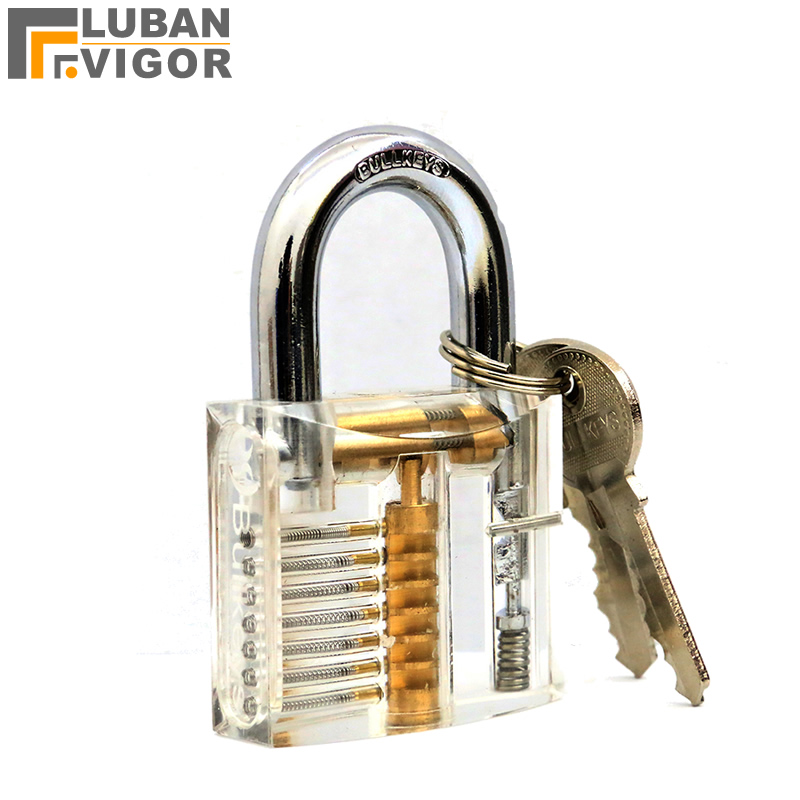 Transparent padlock,Practice/Teaching lock,Learn how to open lock,copper cylinder, Locksmith Supplies цена 2017