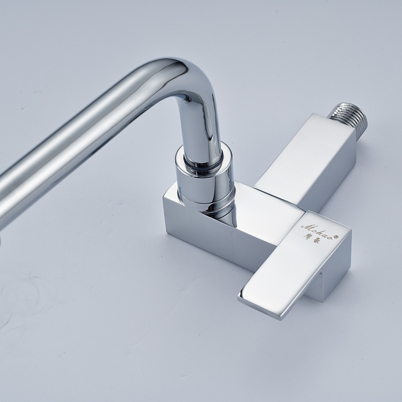 2017 Chrome Finish Wall Mounted New type Kitchen Sink Faucet only ...