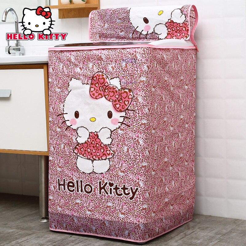 Hello Kitty réfrigérateur couverture de poussière salle de bains Machine à laver couverture de poussière appareil ménager couverture sac maison stockage livraison gratuite