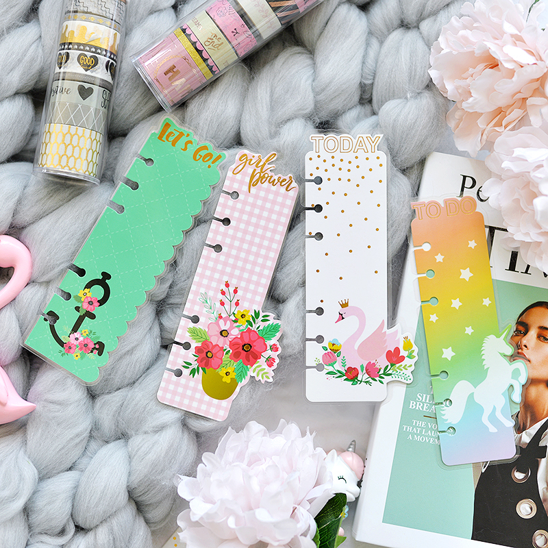Lovedoki Cute Unicorn Planner Accessories Index Divider Ruler Bookmark For Filofax Spiral Notebook A5 Stationery School Supplies