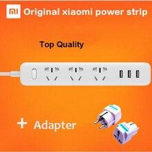 Удлинитель питания xiaomi mi, 100% оригинал, 250 В, 3 USB гнезда для зарядки, 6 выходов, штепсельная вилка со стандартным разъемом EU/AU/UK/US