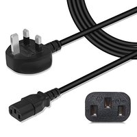 UK Plug 1 5M 5FT 3 PIN Power Cord Cable Lead For Laptop PC Adapter Computer