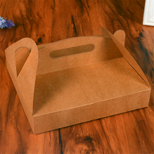 5Pcs/lot 9 inch Pizza Box Food Packaging paper Box with Handle Pizza Boxes Party Supplies 24*24*4.5cm