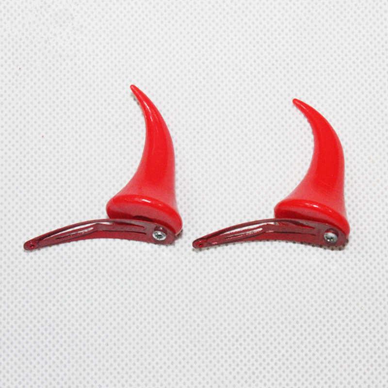 1 คู่ฮาโลวีน DEVIL Horns คลิป DARLING ใน FRANXX คอสเพลย์อุปกรณ์เสริม Unisex น่ารัก Headwear STAGE Dress UP